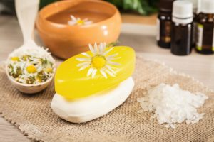 bath soaps and salts with essential oils